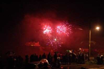 Port Gavern & Port Isaac fireworks and Bonfire Night, view from the Beach House