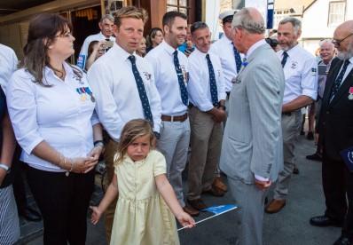 Charles meets the RNLI volunteers