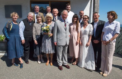 Prince Charles with the Doc Martin cast